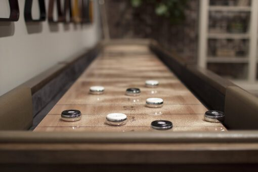 Shuffleboard play field