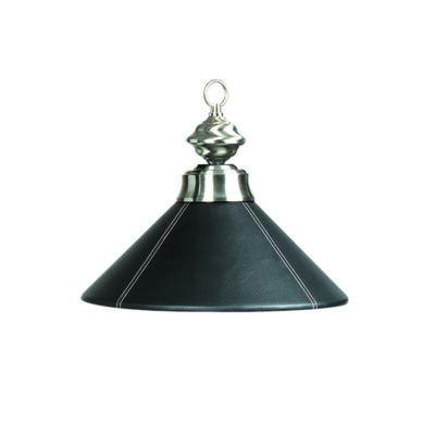 "14"" BLACK LEATHER SINGLE PENDANT LIGHT"