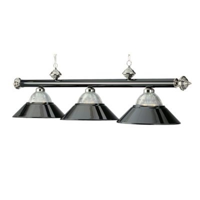 "3 SHADE 54"" BILLIARD LIGHT - BLACK & CHROME"