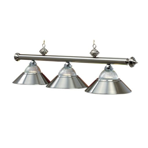 "3 SHADE 54"" BILLIARD LIGHT - STAINLESS"