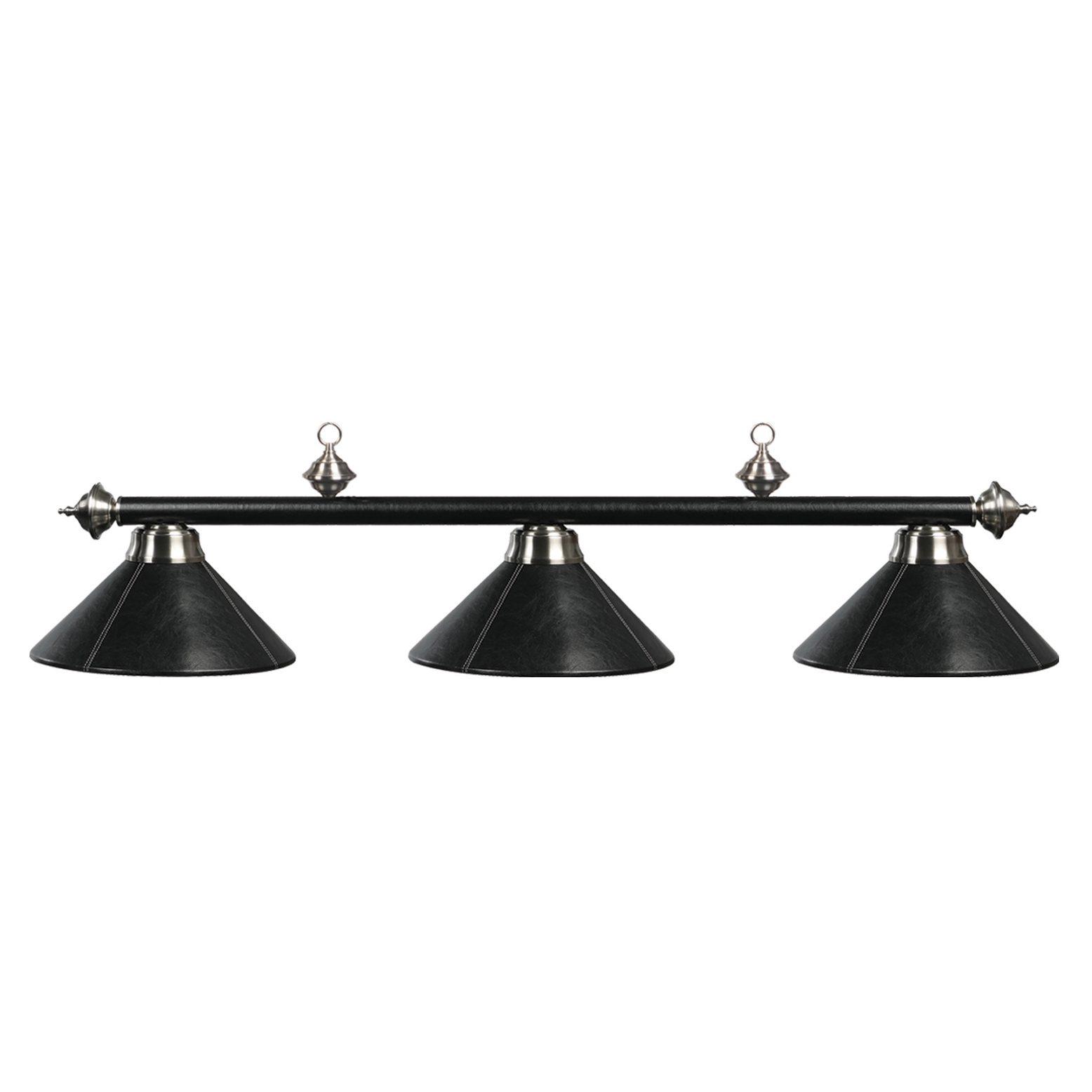 3 Shade 54 Quot Billiard Light Black Leather Ram Game Room