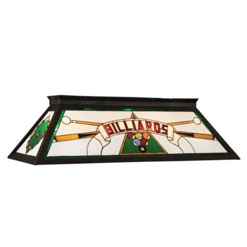 """BILLARDS"" STAINED GLASS BILLIARD LIGHT - GREEN"