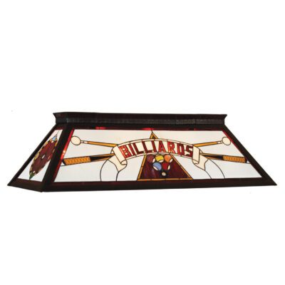 """BILLARDS"" STAINED GLASS BILLIARD LIGHT - RED"