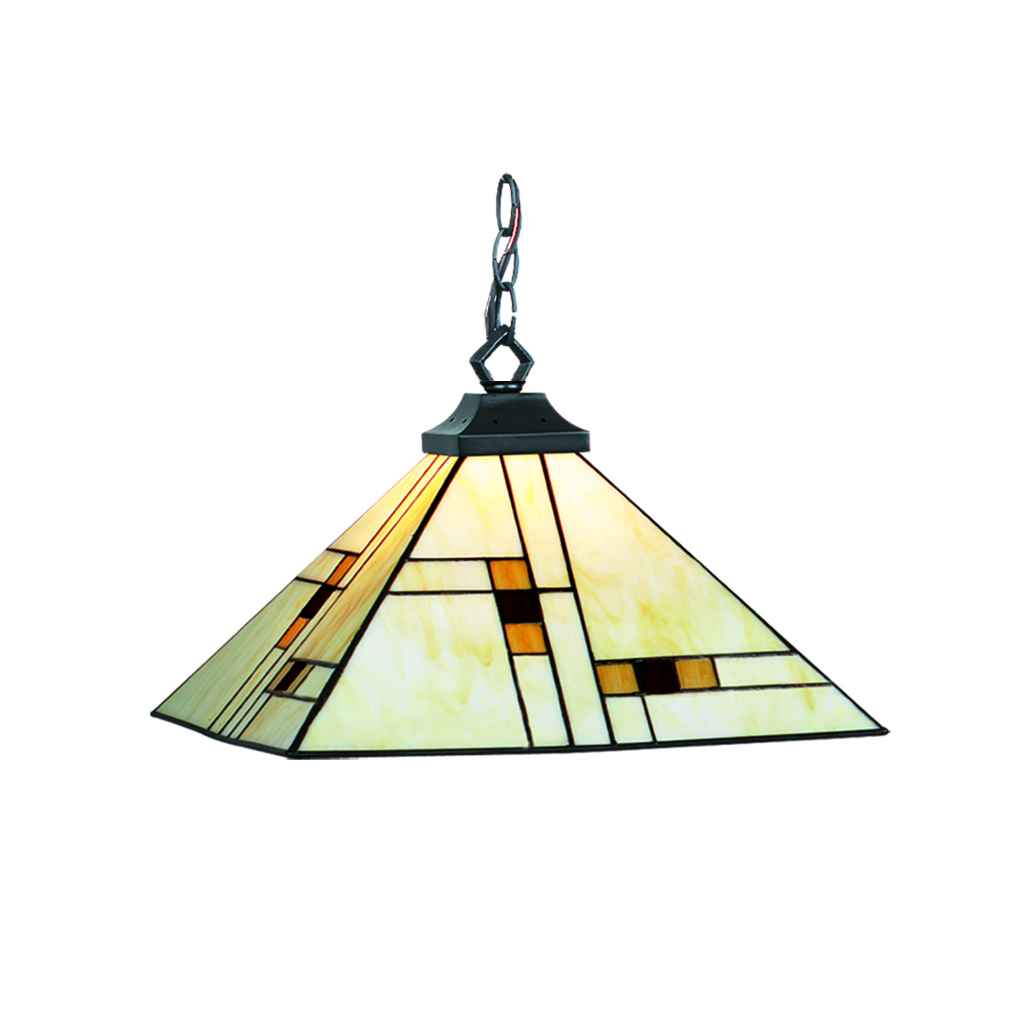 Brooklyn 15 Stained Glass Pendant Light