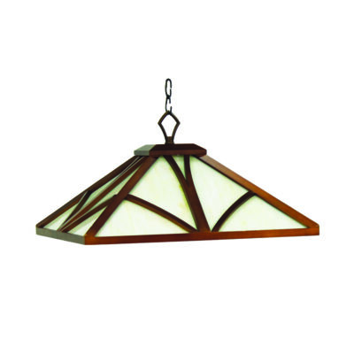 "CHATEAU 17"" PENDANT LIGHT - CHESTNUT"