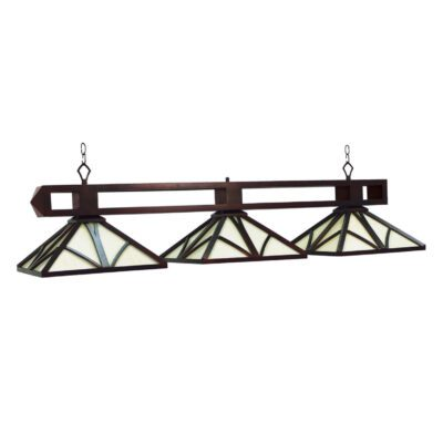 "CHATEAU 3 SHADE 56"" BILLIARD LIGHT - ENGLISH TUDOR"