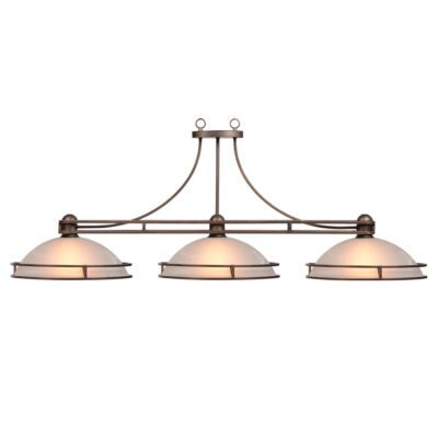 "COSMOPOLITAN 3 SHADE 56"" BILLIARD LIGHT - BRONZE"