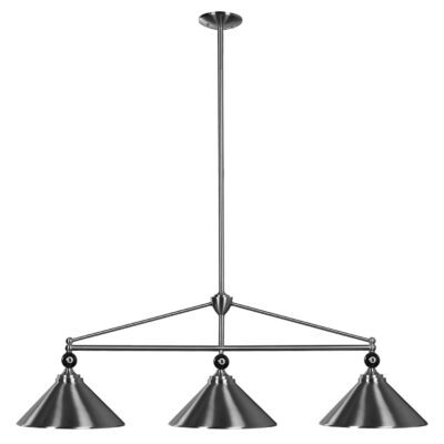 "8 BALL 3 SHADE 54"" BILLIARD LIGHT"