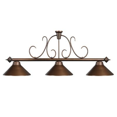 "3 SHADE 58"" BILLIARD LIGHT - OIL RUBBED BRONZE"