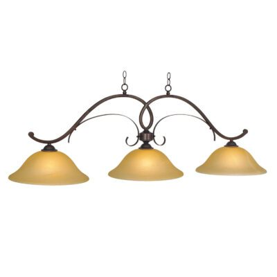 "HAWTHORN 3 SHADE 56"" BILLIARD LIGHT - OIL RUBBED BRONZE"
