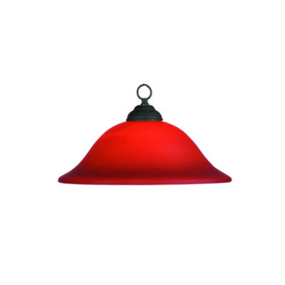 "MARSEILLES 16"" PENDANT LIGHT - PAINTED BURGUNDY"