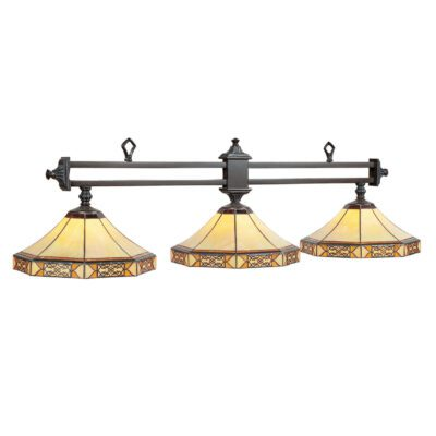 "MISSION FILIGREE 2 SHADE 56"" BILLIARD LIGHT"