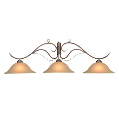 "MONACO 3 SHADE 56"" BILLIARD LIGHT - OIL RUBBED BRONZE"