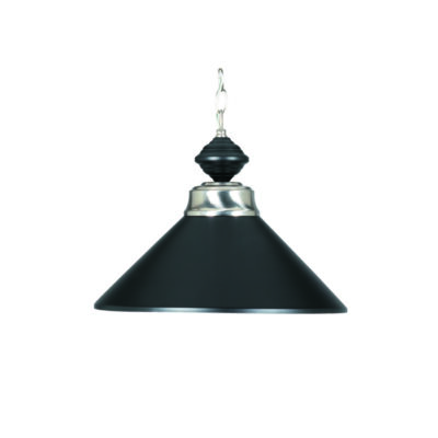 "14"" PENDANT LIGHT - MATTE BLACK & STAINLESS"