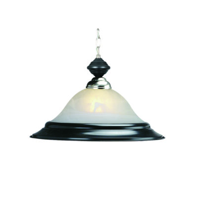 "17"" PENDANT LIGHT - MATTE BLACK & STAINLESS"