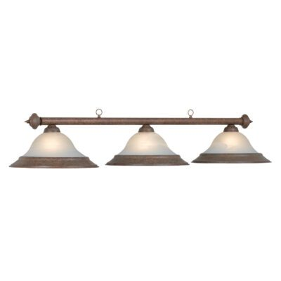 "3 SHADE 60"" BILLIARD LIGHT - OLD BROWN"