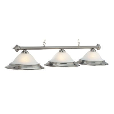 "3 SHADE 60"" BILLIARD LIGHT - STAINLESS"