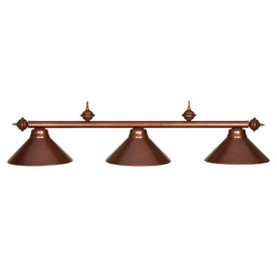 "3 SHADE 54"" BILLIARD LIGHT - CHESTNUT"