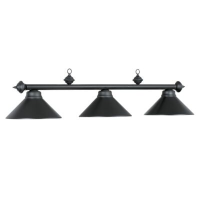 "3 SHADE 54"" BILLIARD LIGHT - MATTE BLACK"