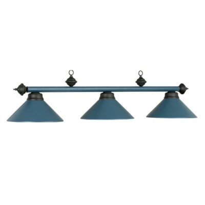 "3 SHADE 54"" BILLIARD LIGHT - MATTE BLUE"