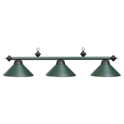 "3 SHADE 54"" BILLIARD LIGHT - MATTE GREEN"