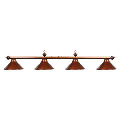 "4 SHADE 78"" BILLIARD LIGHT - CHESTNUT"