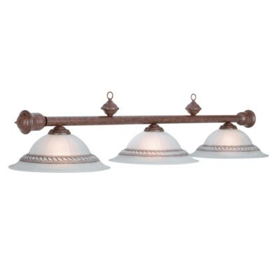 "CORDA 3 SHADE 59"" BILLIARD LIGHT - OLD BROWN"