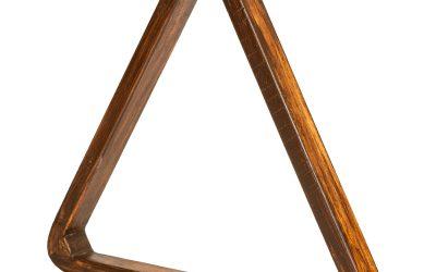 Triangle Pool Ball Rack – Reclaimed Wood
