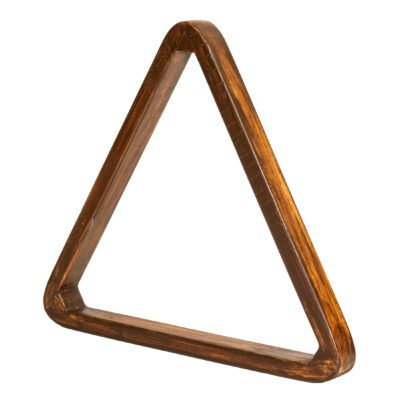 Brown Wood Triangle Pool Ball Rack