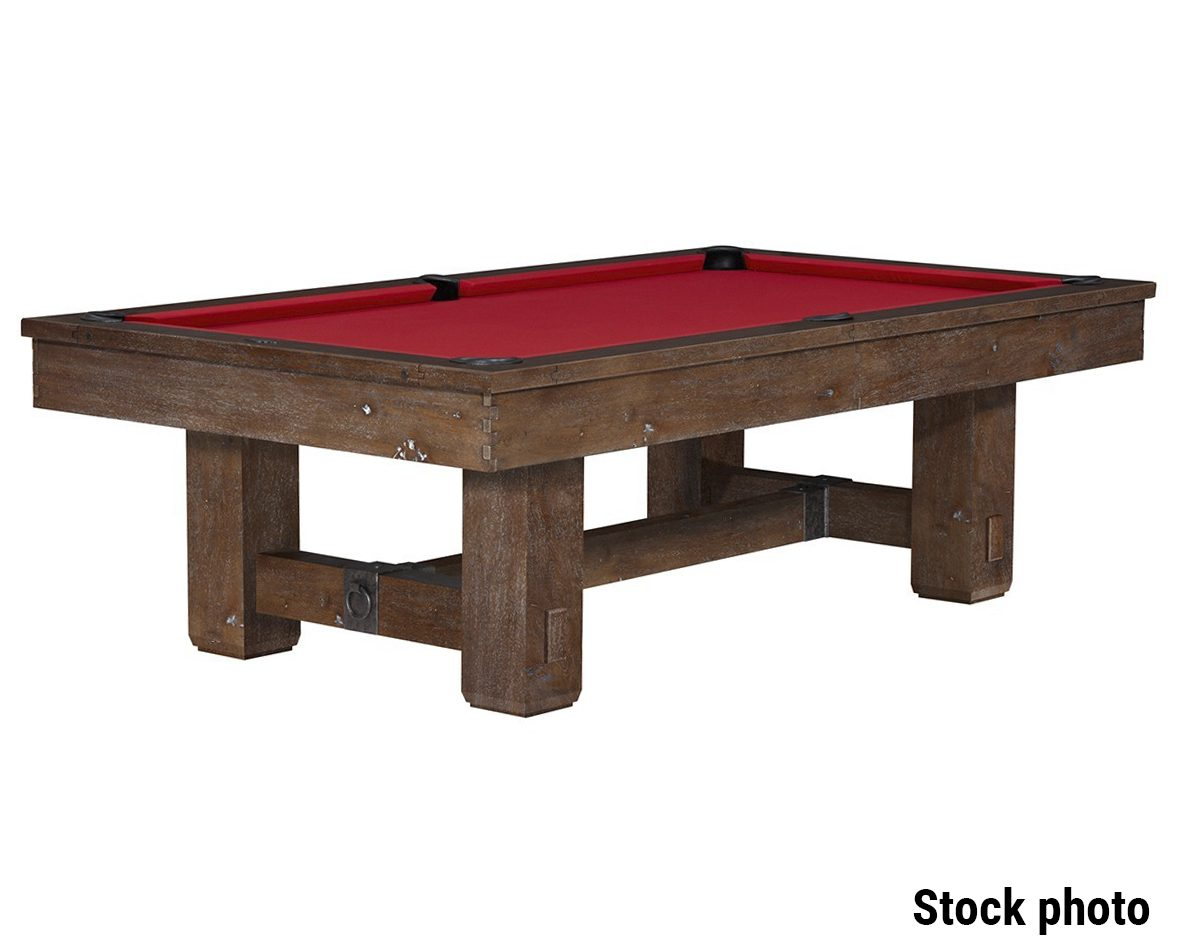 9 Foot Used Brunswick Merrimack Pool Table Discounted