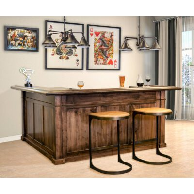 Custom Wood Home Bar