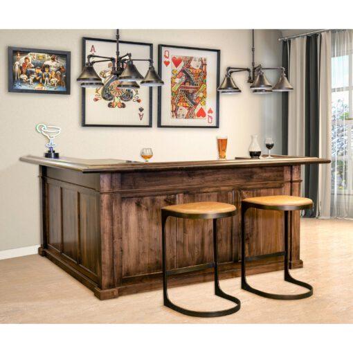 Custom Wood Home Bar