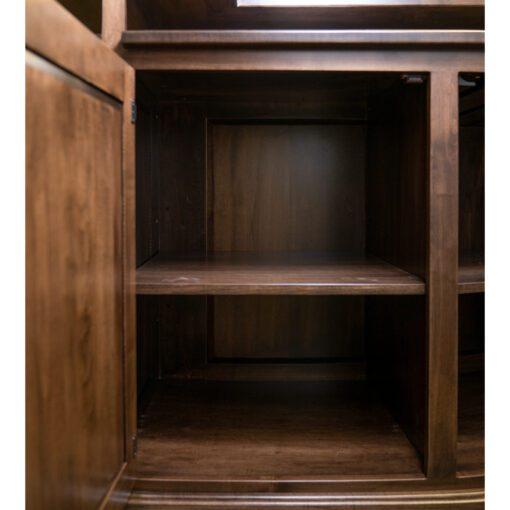 custom wood home bar shelving option