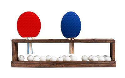 Ping Pong Paddle Wall Rack