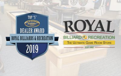 "2019 ""TOP 5"" Olhausen Billiards' Pool Table & Shuffleboard Dealer"