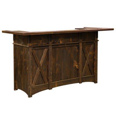 Custom Wood Home Bar Side