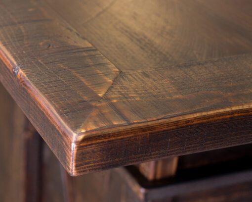 Custom Wood Home Bar Detail