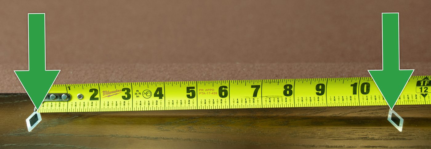 Measure an unassembled pool table between the sites to determine correct felt size