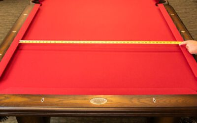 Measure a Pool Table for a New Cloth