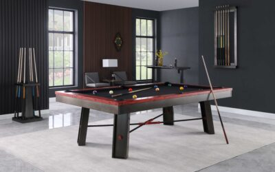 Maddox Industrial Steel Pool Table by Plank and Hide