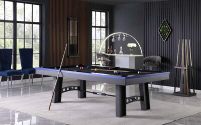 Xander Industrial Steel Pool Table by Plank and Hide