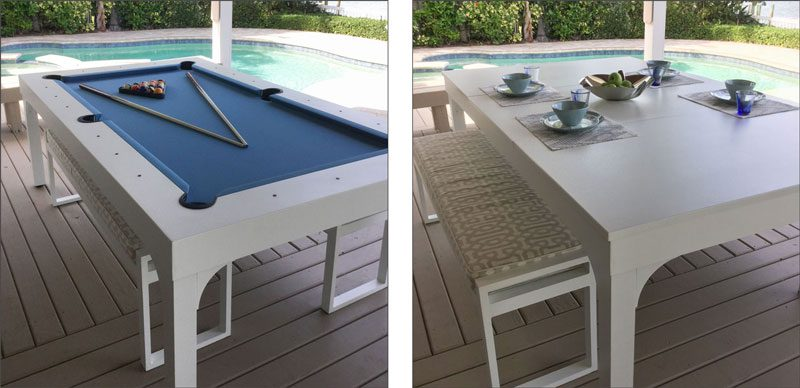 outdoor pool table dining top