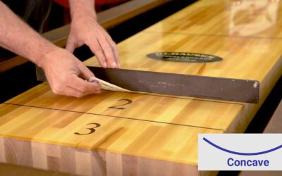 Leveling a Shuffleboard Playing Surface