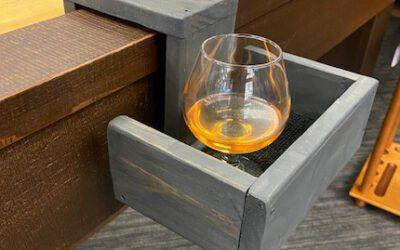 Drink Holder for Shuffleboard – Reclaimed Wood