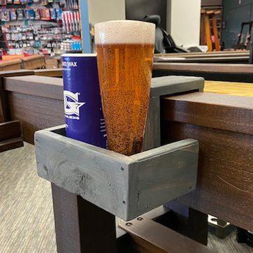 Shuffleboard Drink Holder Reclaimed Wood