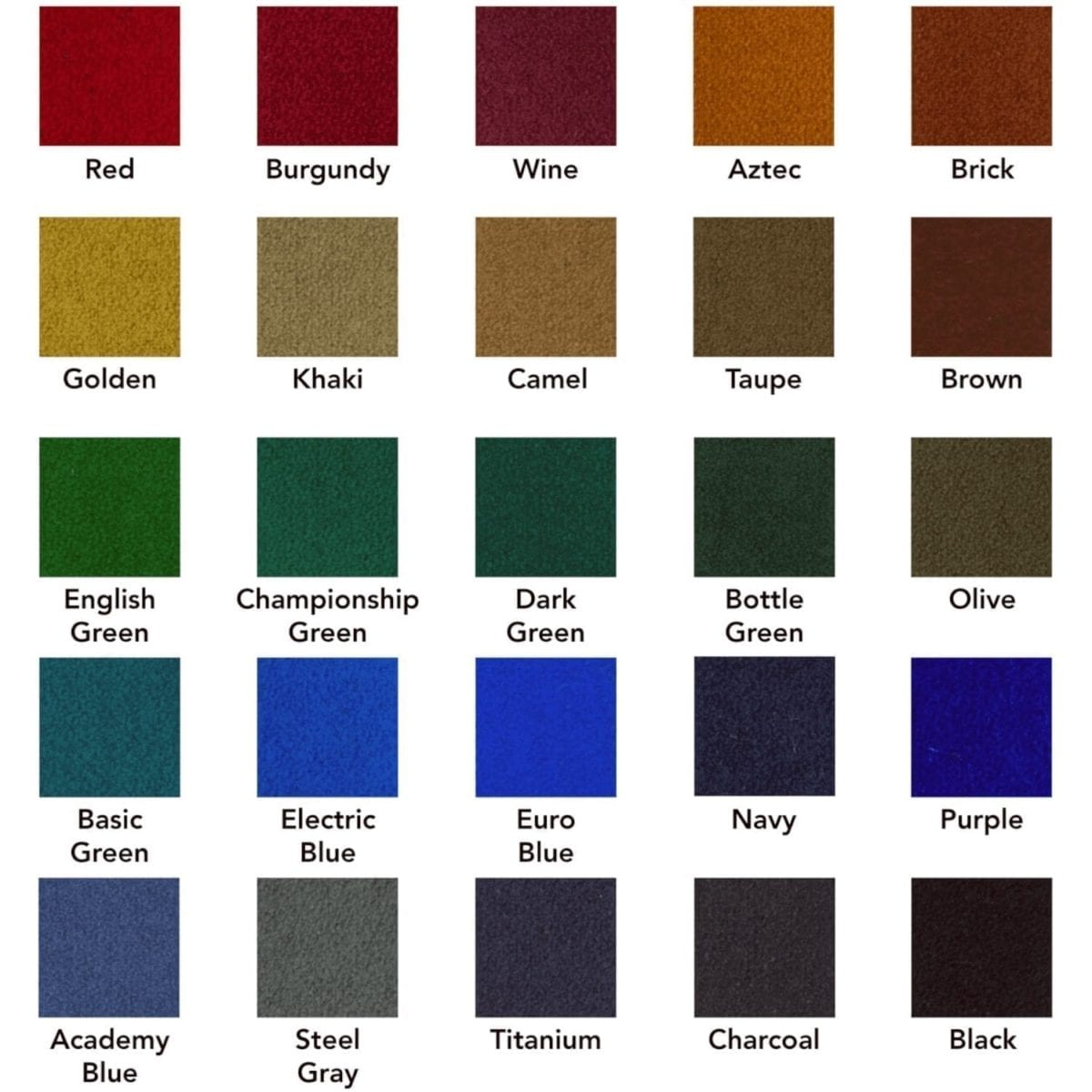Pool Table Color Cloth