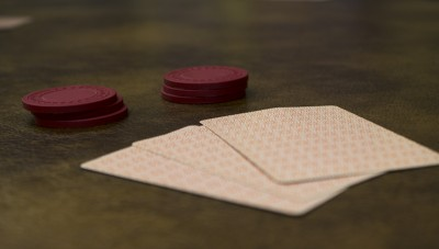 Cards and poker chips.