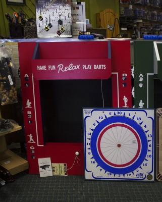 A dart board in stock.